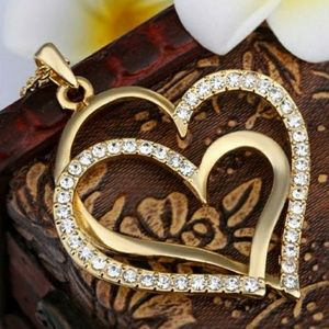 Jewelry - 18k Gold Double Heart
